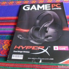 Brinquedos antigos: CATÁLOGO GAME PC GAMING. HYPER X, CLOUD STINGER WIRELESS. EXCLUSIVA GAME. 2019. 90 PÁGINAS.. Lote 176616548