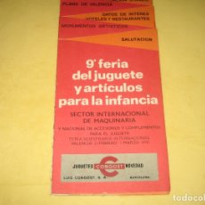 Juguetes antiguos: CATALOGO DE LA NOVENA FERIA DEL JUGUETE VALENCIA - 1970 - DESPLEGABLE - VER FOTOS . Lote 177416385