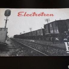 Juguetes antiguos: PRIMER CATÁLOGO DE ELECTROTREN PARA VAGONES Y COCHES DE VIAJEROS ESC. H0 1/87, MADRID 1958.. Lote 178065609