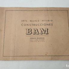 Juguetes antiguos: CONSTRUCCIONES BAM CATALOGO. Lote 178161937