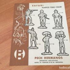 Juguetes antiguos: PECH HERMANOS SAFARI 1 PLASTICO TODO COLOR HOJA CATALOGO (COIB37). Lote 178372041