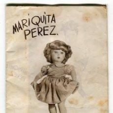 Juguetes antiguos: MARIQUITA PEREZ / JUANIN ANTIGUO CATALOGO PUBLICITARIO CON PRECIOS DE LAS MUÑECAS Y LOS COMPLEMENTOS. Lote 178820645