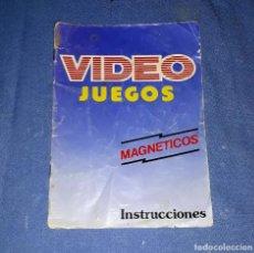 Juguetes antiguos: ANTIGUO Y CURIOSO CATALOGO DE LA CASA CHICO VIDEO JUEGOS MAGNETICOS INSTRUCCIONES. Lote 178842921