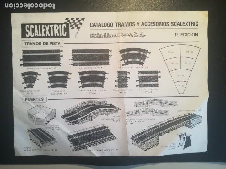 SCALEXTRIC CATALAGO TRAMOS Y ACCESORIOS PRIMERA EDICION (Juguetes - Catálogos y Revistas de Juguetes)