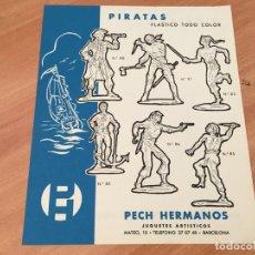 Juguetes antiguos: PECH HERMANOS PIRATAS PLASTICO TODO COLOR HOJA CATALOGO (COIB35). Lote 179198691