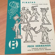 Juguetes antiguos: PECH HERMANOS PIRATAS 2 PLASTICO TODO COLOR HOJA CATALOGO (COIB35). Lote 179198713