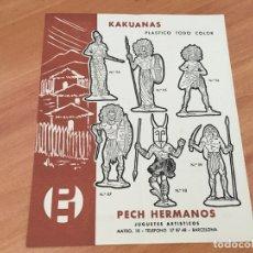 Juguetes antiguos: PECH HERMANOS KAKUANAS PLASTICO TODO COLOR HOJA CATALOGO (COIB35). Lote 179198823