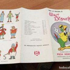 Juguetes antiguos: PECH HERMANOS TRIPTICO CREACIONES WALT DISNEY (COIB35). Lote 179199227