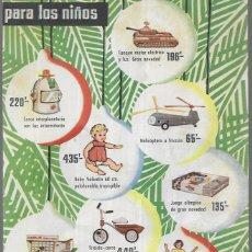 Juguetes antiguos: ANUNCIO JUGUETES * EL BARATO * AÑO 1961. Lote 179210567