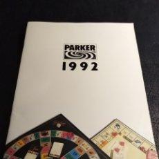 Juguetes antiguos: CATALOGO PARKER 1992 (MONOPOLY, TRIVIAL, RISK, ETC). Lote 180171307