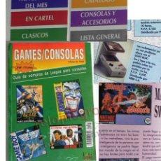 Juguetes antiguos: REVISTA GAMES CONSOLAS 1993 - GUÍA SOBRE VIDEOJUEGOS GAME BOY SUPER NINTENDO VINTAGE JUEGOS CATÁLOGO. Lote 182106958