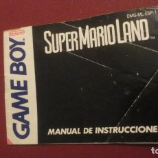 Juguetes antiguos: ANTIGUO MANUAL INSTRUCCIONES.SUPER MARIO LAND.GAME BOY.NINTENDO 1991. Lote 182843711