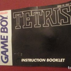 Juguetes antiguos: ANTIGUO INSTRUCTION BOOKLET.TETRIS.GAME BOY.NINTENDO 1989. Lote 182844693