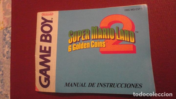 ANTIGUO MANUAL INSTRUCCIONES.SUPER MARIO LAND 6 GOLDEN COINS.GAME BOY.NINTENDO 1992 (Juguetes - Catálogos y Revistas de Juguetes)