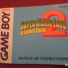 Juguetes antiguos: ANTIGUO MANUAL INSTRUCCIONES.SUPER MARIO LAND 6 GOLDEN COINS.GAME BOY.NINTENDO 1992. Lote 182845033