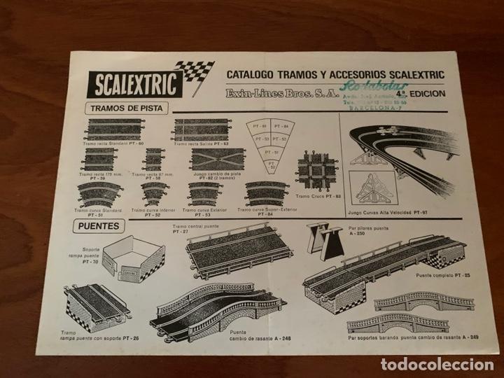 SCALEXTRIC CATALOGO TRAMOS Y ACCESORIOS 1970 (Juguetes - Catálogos y Revistas de Juguetes)