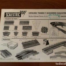 Juguetes antiguos: SCALEXTRIC CATALOGO TRAMOS Y ACCESORIOS 1970. Lote 182879987