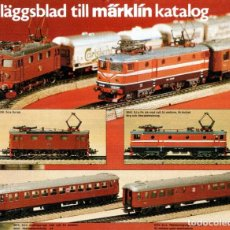 Juguetes antiguos: CATÁLOGO MÄRKLIN INFORMATIONSBLATT 1982 TILLÄGGSBLAD TILL MÄRKLIN KATALOG - EN SUECO. Lote 183404531