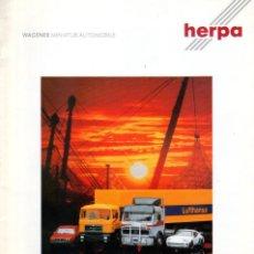 Juguetes antiguos: CATÁLOGO HERPA COLLECTION 1989 WAGENER MINIATUR AUTOMOBILE HO 1/87 - EN ALEMÁN. Lote 183409028