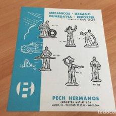 Giocattoli antichi: PECH HERMANOS MECANICOS URBANO GUARDAVIA REPORTER PLASTICO TODO COLOR HOJA CATALOGO (COIB37). Lote 183707556