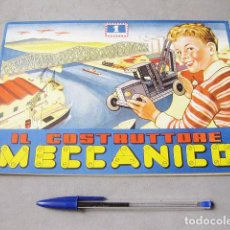 Juguetes antiguos: CATÁLOGO DE INSTRUCCIONES DE MECANO IL COSTRUCTTORE MECCANICO Nº 1. Lote 183816831