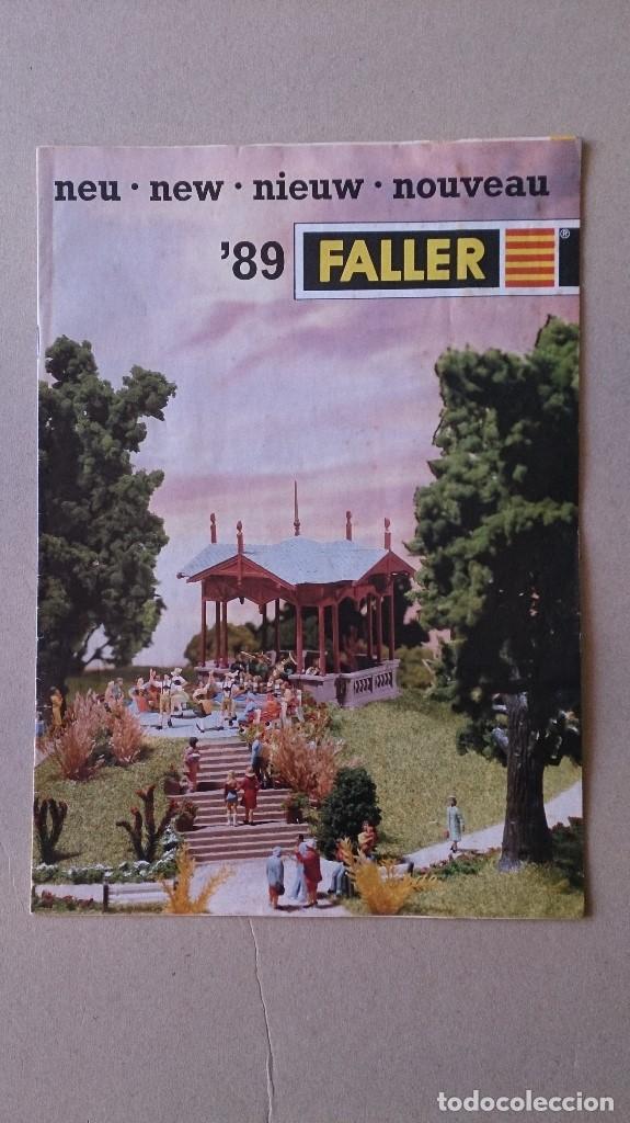 CATALOGO FALLER 1989 MAQUETAS MODELISMO TRENES (Juguetes - Catálogos y Revistas de Juguetes)