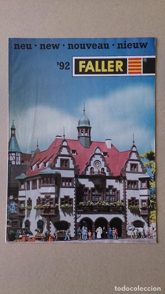 CATALOGO FALLER 1992 MAQUETAS MODELISMO TRENES (Juguetes - Catálogos y Revistas de Juguetes)