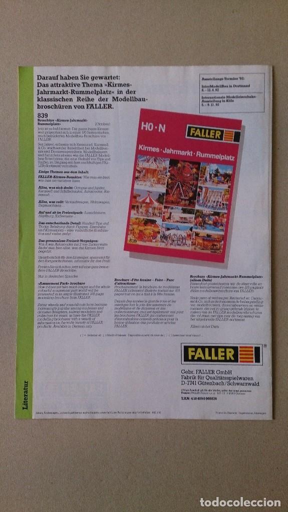 Juguetes antiguos: CATALOGO FALLER 1992 MAQUETAS MODELISMO TRENES - Foto 2 - 190303962