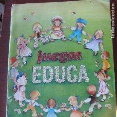 Juguetes antiguos: CATALOGO EDUCA JUEGOS Y PUZZLES - AÑO 1981. Lote 191373720