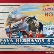 Juguetes antiguos: CATALOGO JUGUETES PAYA HERMANOS IBI ALICANTE TRENES FERROCARRIL HO 1960 ORIGINAL. Lote 193430378
