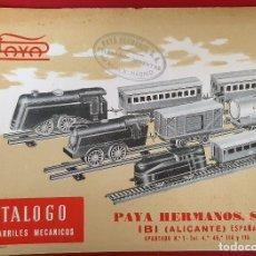 Juguetes antiguos: CATALOGO JUGUETES PAYA HERMANOS IBI ALICANTE FERROCARRILES MECANICOS ORIGINAL. Lote 193431045