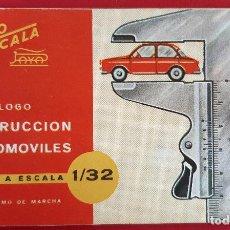 Juguetes antiguos: PEQUEÑO CATALOGO JUGUETES PAYA AUTO ESCALA 1/32 CONSTRUCCION AUTOMOVILES ORIGINAL. Lote 193432342