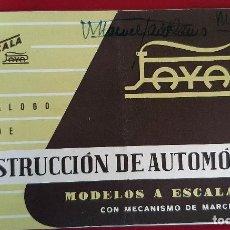 Juguetes antiguos: PEQUEÑO CATALOGO JUGUETES PAYA AUTO ESCALA 1/32 CONSTRUCCION AUTOMOVILES ORIGINAL. Lote 193432636