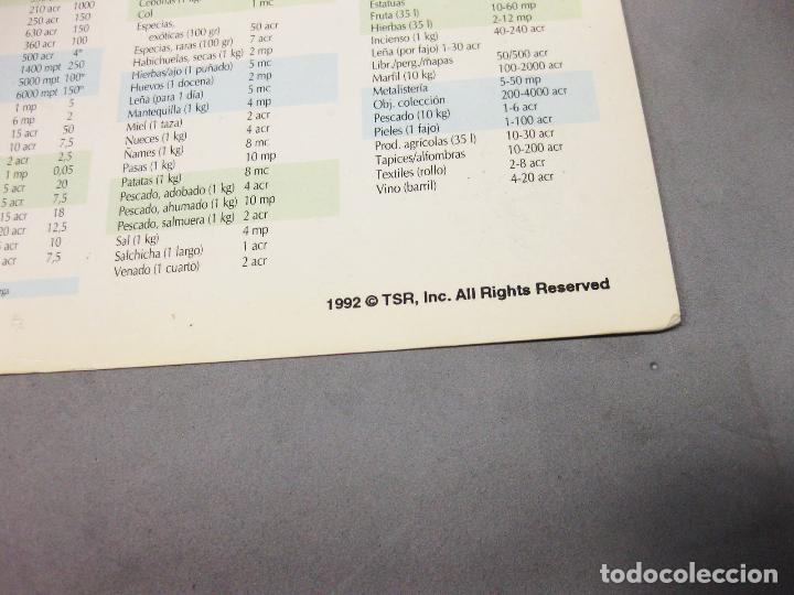 Juguetes antiguos: INSTRUCCIONES DE ALGÚN JUEGO DE DRAGONES Y MAZMORRAS - 1992 TSR - DUNGEONS & DRAGONS - Foto 4 - 194215418