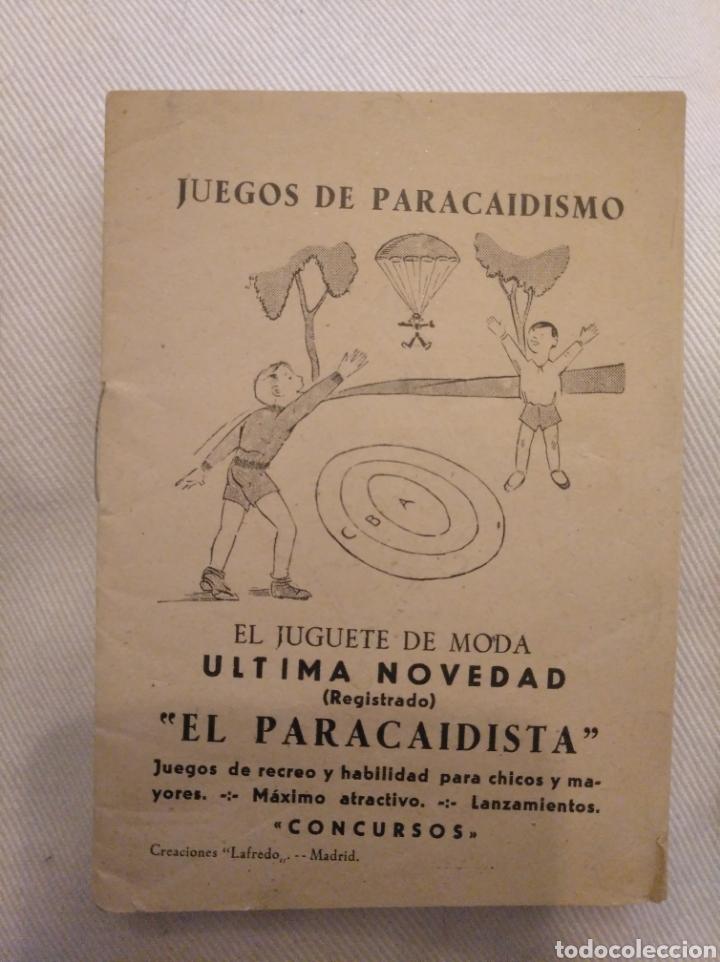 JUEGOS DE PARACAIDISMO. JUGUETE DE MODA EL PARACAIDISTA. CREACIONES LAFREDO. (Juguetes - Catálogos y Revistas de Juguetes)