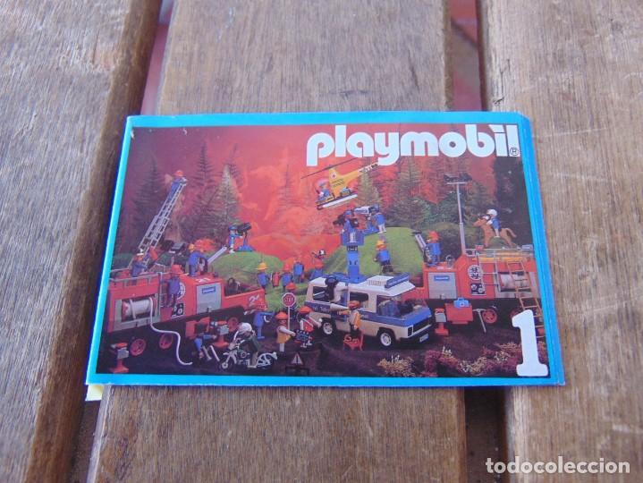 CATÁLOGO DESPLEGABLES DE PLAYMOBIL 1986 Nº 1 (Juguetes - Catálogos y Revistas de Juguetes)