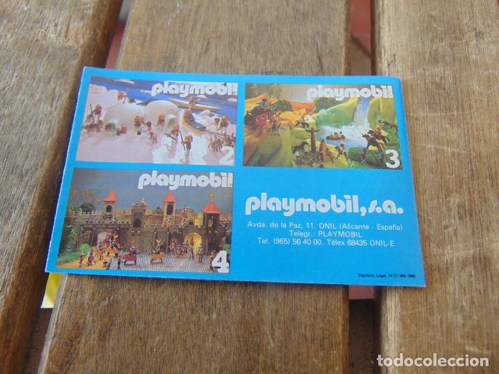 Juguetes antiguos: CATÁLOGO DESPLEGABLES DE PLAYMOBIL 1986 Nº 1 - Foto 2 - 194340013