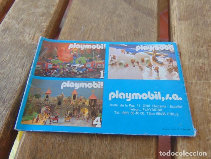 Juguetes antiguos: CATÁLOGO DESPLEGABLES DE PLAYMOBIL 1986 Nº 3 - Foto 2 - 194340087