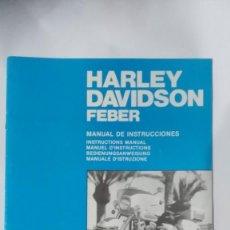 Juguetes antiguos: MANUAL DE INSTRUCIONES HARLEY DAVIDSON FEBER , DE FEBER , NUEVO. Lote 194368917