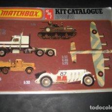 Juguetes antiguos: CATALOGO JUGUETES MATCHBOX AÑO 1980 / 81. ESTAR TREK, COCHES, AVIONES, TANQUES, BARCOS CAMIONES. Lote 194401567