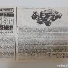 Juguetes antiguos: ASTON MARTIN PK-301/1:32- MATCHBOX (995). Lote 194494405