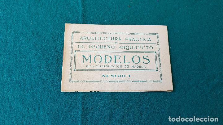 ARQUITECTURA PRACTICA - MODELOS DE CONSTRUCCION DE MADERA NUMERO 1 (Juguetes - Catálogos y Revistas de Juguetes)