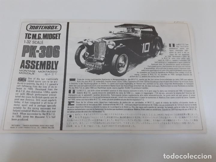 TC M.G. MIDGET 1-32 PK-306 /MATCHBOX (1000) (Juguetes - Catálogos y Revistas de Juguetes)