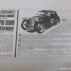 Juguetes antiguos: TC M.G. MIDGET 1-32 PK-306 /MATCHBOX (1000). Lote 194552516