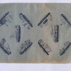 Juguetes antiguos: ANTIGUO PLIEGO GRAN BAZAR DE JOGUINES LA ARTISTICA CALLE BOQUERIA BARCELONA AÑOS 20 - 30. Lote 194611837