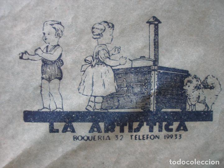 Juguetes antiguos: Antiguo pliego de envolver Gran bazar de joguines Vicens Capdevila Barcelona años 30 - Foto 6 - 194611837