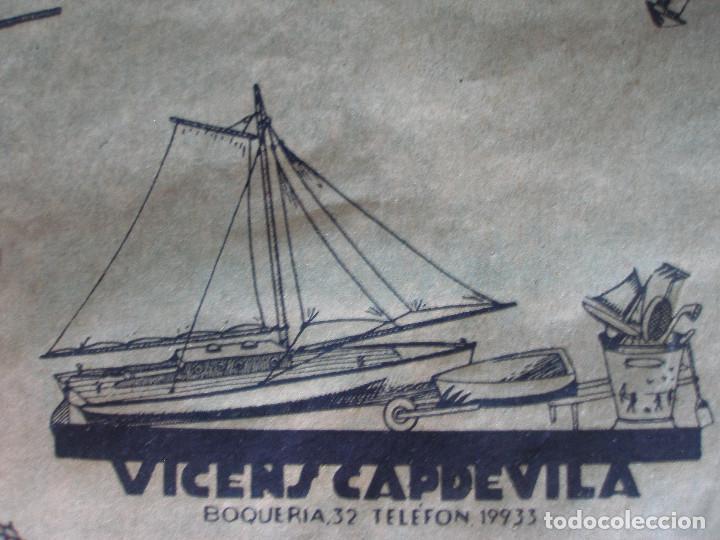 Juguetes antiguos: Antiguo pliego de envolver Gran bazar de joguines Vicens Capdevila Barcelona años 30 - Foto 9 - 194611837