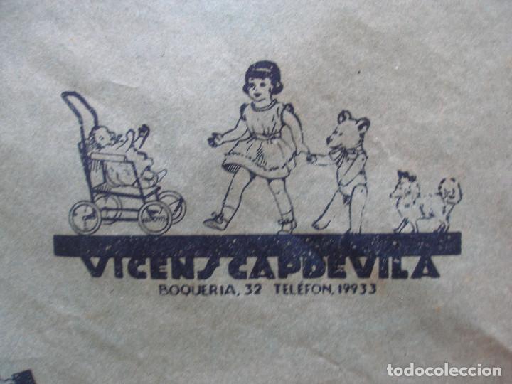 Juguetes antiguos: Antiguo pliego de envolver Gran bazar de joguines Vicens Capdevila Barcelona años 30 - Foto 12 - 194611837