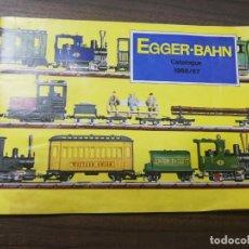 Juguetes antiguos: EGGER- BAHN. CATALOGUE. 1966/67. . Lote 194754795