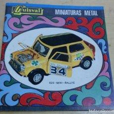 Juguetes antiguos: CATÁLOGO GUISVAL MINIATURAS METAL MINI RALLY Nº 525 12 PÁGINAS. Lote 195212002